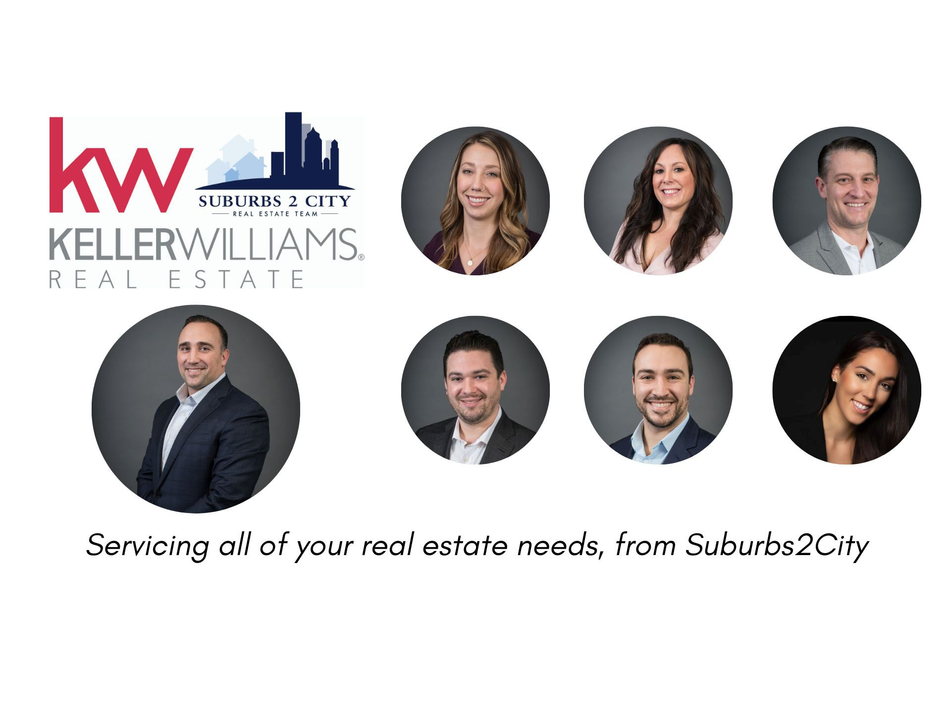 The Suburbs2City Team Servicing all of your real estate needs, from Suburbs2City